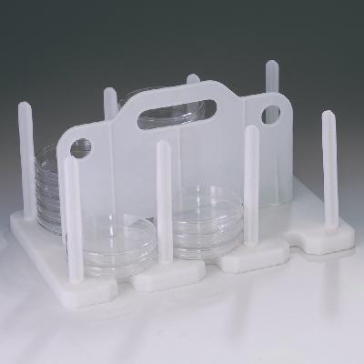 Rack d'emmagatzematge i transport de plaques de Petri de 90 a 100 mm