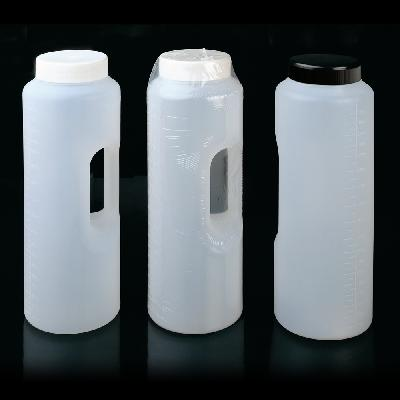 Cylindrical container graduated up to 2 litres with handle