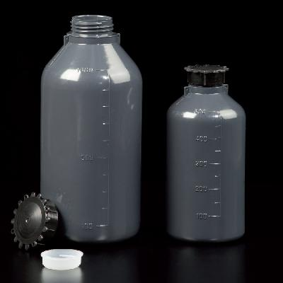 Graduated narrow neck opaque bottles