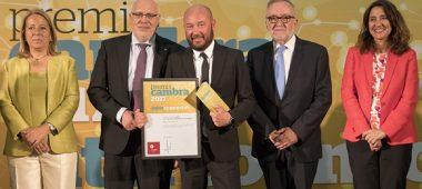 Deltalab reçoit les prix Cambra'17 à la Trajectoire internationale consolidée