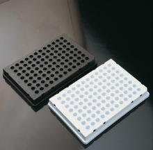 Opaque skirted 96 well PCR plate