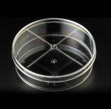 Placa Petri 90 x 25 mm, cuatro compartimentos