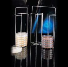 Cistella de transport de plaques de Petri de fins a 100 mm Ø