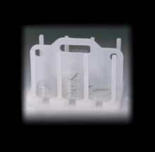 Moulded contact plate rack