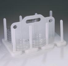 Rack de almacenamiento y transporte de placas de Petri de 90 a 100 mm