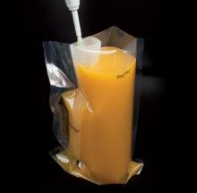 Sac stérile avec filtre lateral page pour des homogénéisateurs