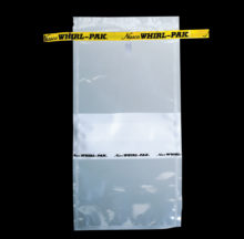 Whirl-Pak® bags with flat wires