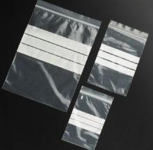 White strip zip-lock bags
