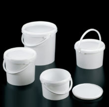 Tamper evident, buckets with lid