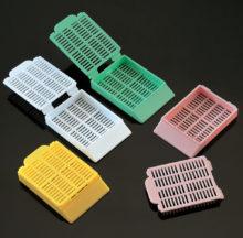 Cassettes for tissue. Histosette I