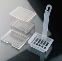 Cubeta y cestillo de tinción
