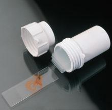 Cubeta cilíndrica para transporte de portaobjetos