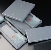 Microscope slide boxes