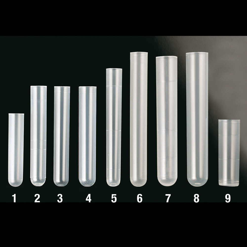 Round bottom plastic tubes
