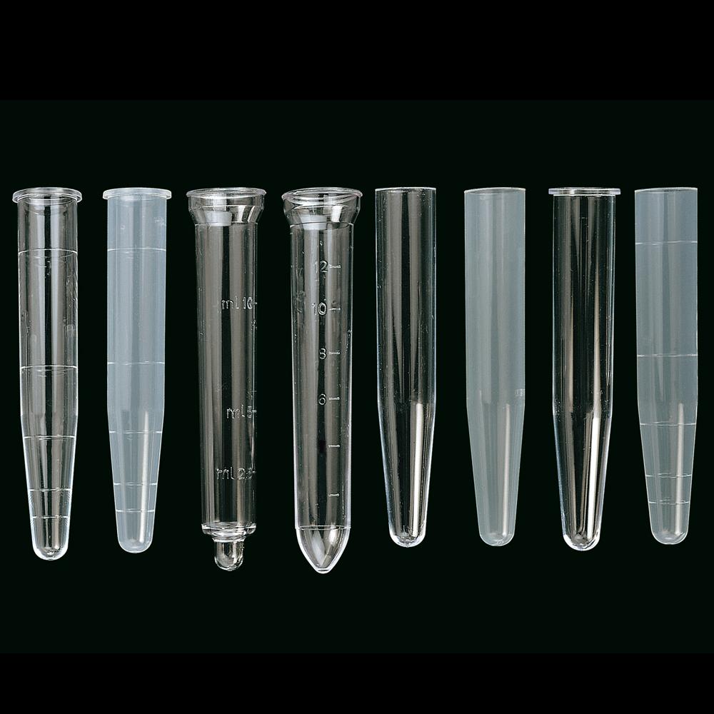 Tubes fond conique en plastique