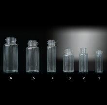 Flat bottom screw threaded vials