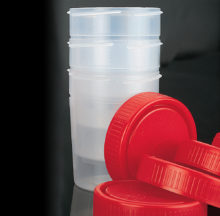 150 ml containers uncapped (57 x 73 mm)