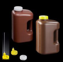 Flacon rectangulaire graduée jusqu'à 3 litres avec anse