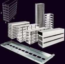 Horizontal metal racks