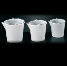 Buckets with spout