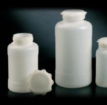 Botellas cilíndricas con tapón de estrella boca ancha