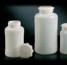 Wide neck containers with star-shaped cap