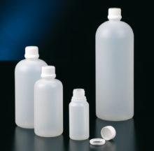 Tamper evident, polyethylene bottles