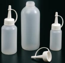 Botellas cilíndricas, tapón con cánula