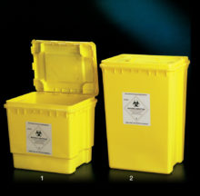 Rectangular waste containers (PP)