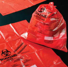Autoclave resistant red bags