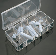Cylindrical or octahedral stirring bar assortment pack