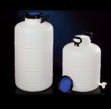 Bidons de stockage à ouverture large avec obturateur et robinet