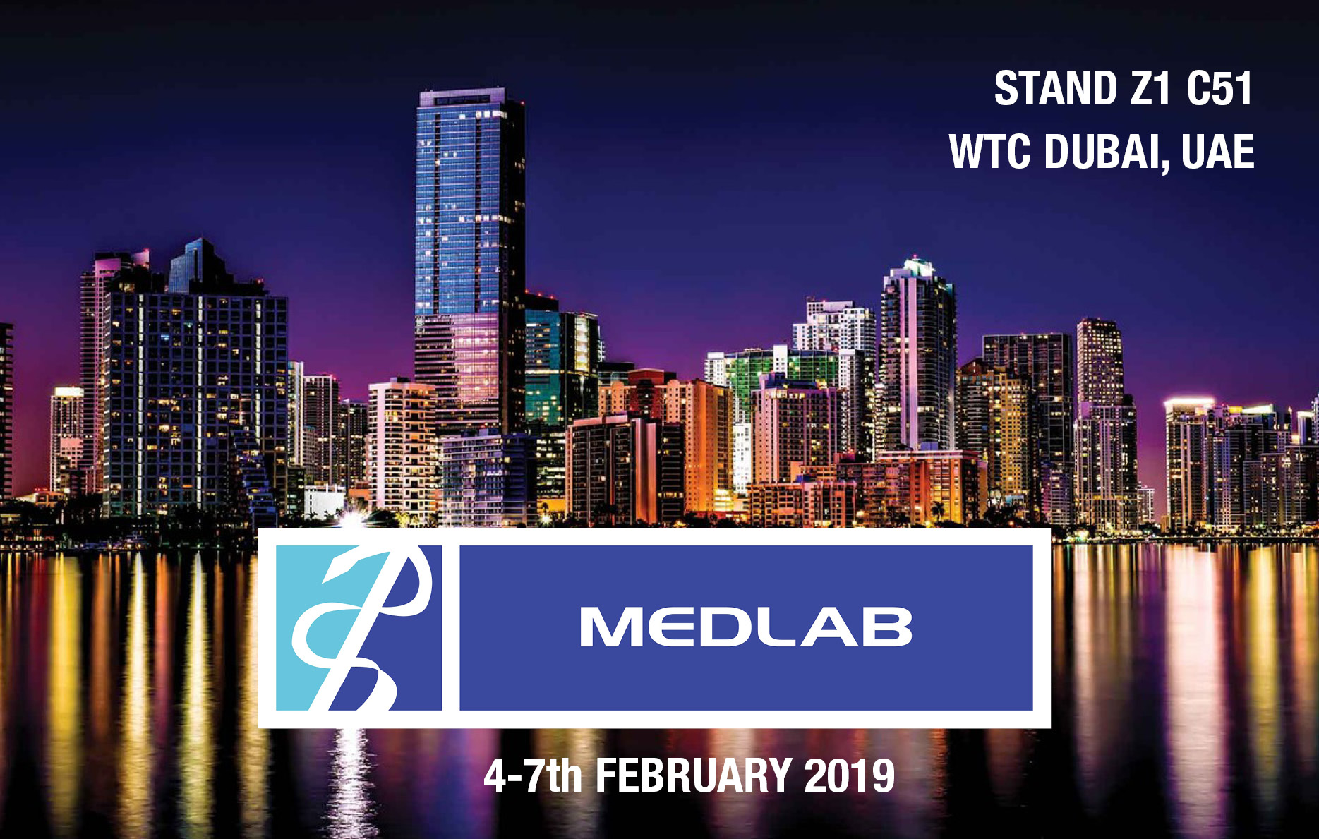 Visit our stand at MEDLAB 2019