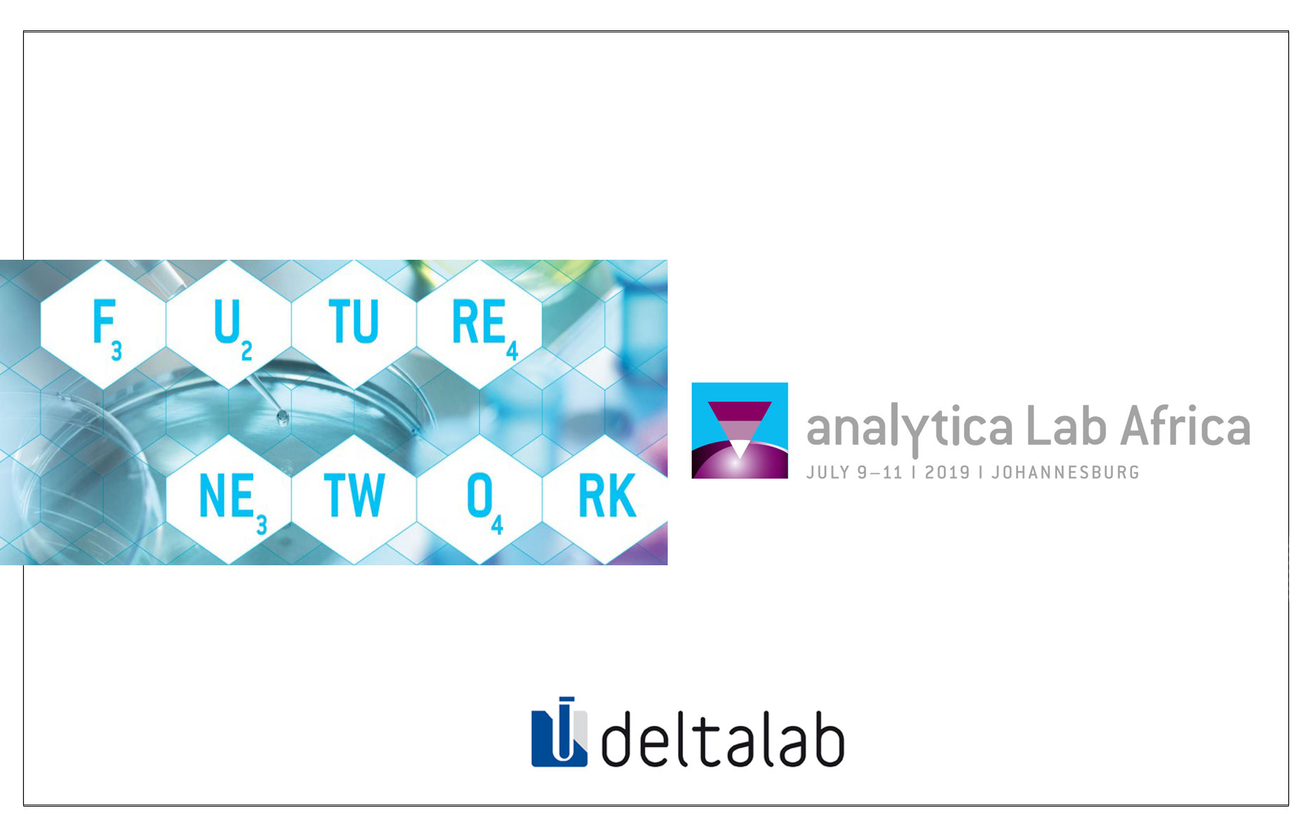 Visit our stand at Analytica Lab Africa 2019