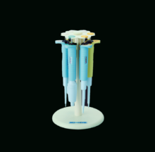 Circular support to house 6 single-channel pipettes